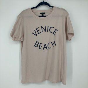 J Crew Venice Beach T Shirt Pink
